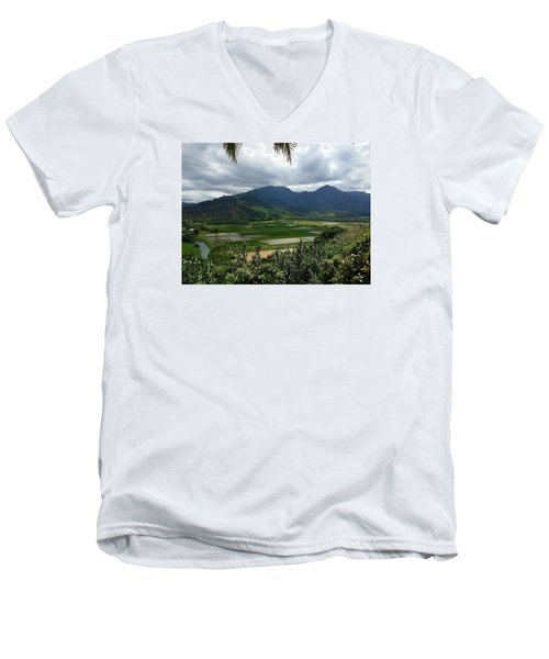 Taro Fields On Kauai Men's V-Neck T-Shirt