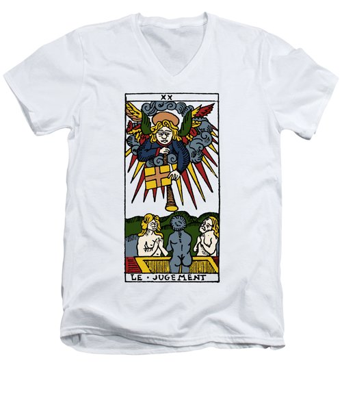 Tarot Card Judgement Men's V-Neck T-Shirt by Granger