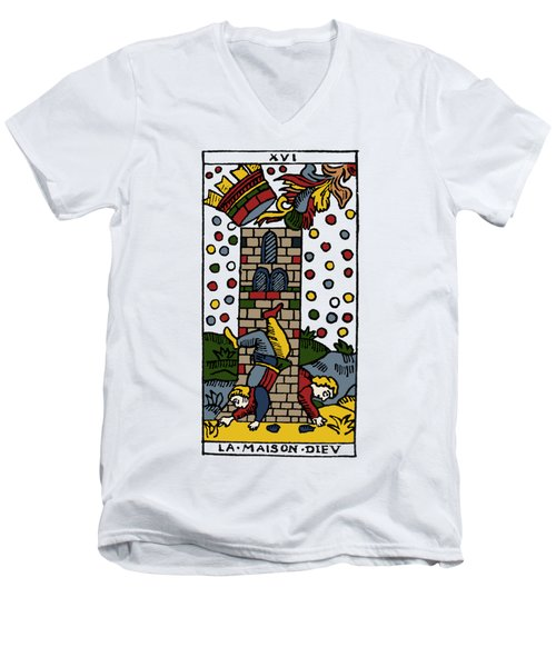 Tarot Card Poorhouse Men's V-Neck T-Shirt by Granger