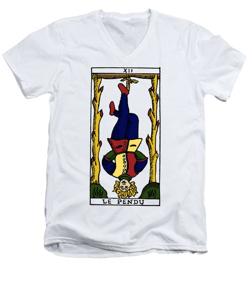 Tarot Card The Hanged Man Men's V-Neck T-Shirt by Granger