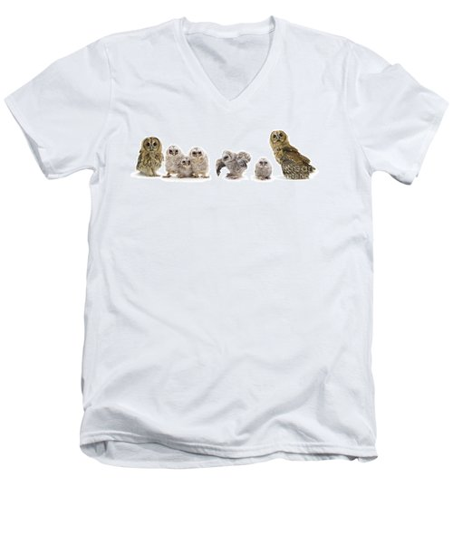 Tawny Owl Family Men's V-Neck T-Shirt