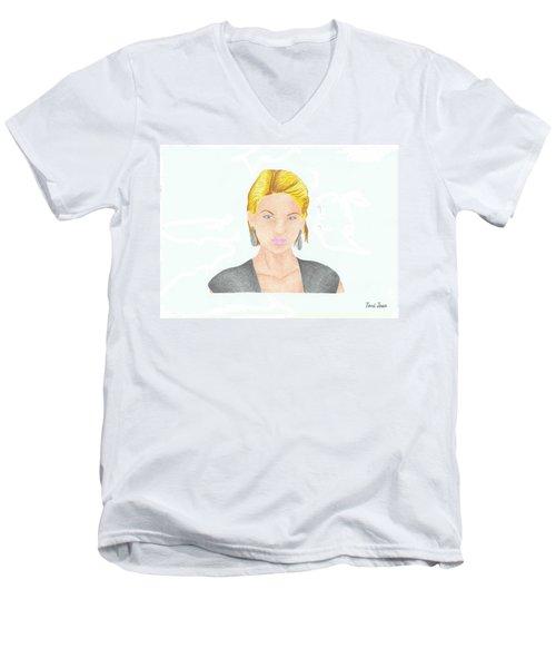 Taylor Swift Men's V-Neck T-Shirt by Toni Jaso