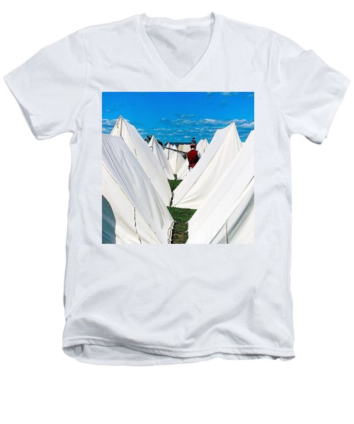 Field Of Tents Men's V-Neck T-Shirt by Kate Arsenault
