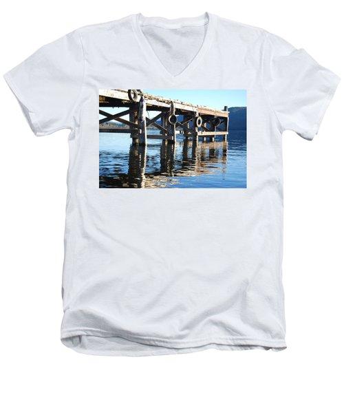 Te Anau Pier Men's V-Neck T-Shirt by Jocelyn Friis