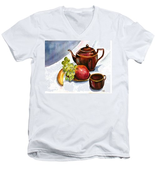 Tea And Fruit Men's V-Neck T-Shirt
