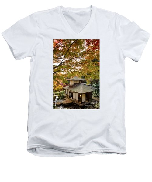 Tea Ceremony Room Men's V-Neck T-Shirt by Tad Kanazaki