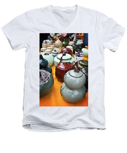 Tea Pots For Sale 3 Men's V-Neck T-Shirt