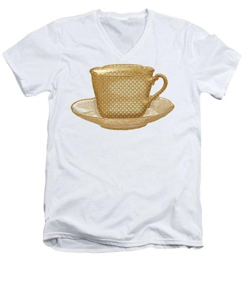 Teacup Garden Party 3 Men's V-Neck T-Shirt by J Scott