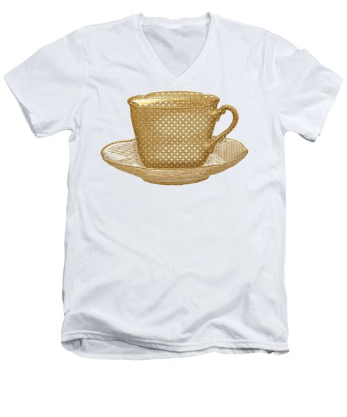 Teacup Garden Party 3 Men's V-Neck T-Shirt