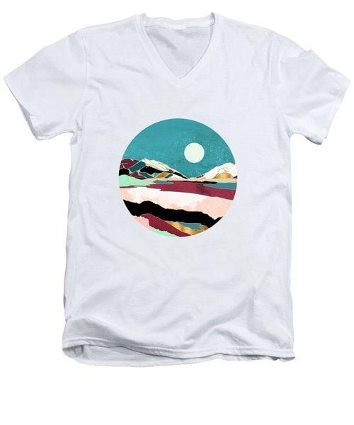 Teal Sky Men's V-Neck T-Shirt