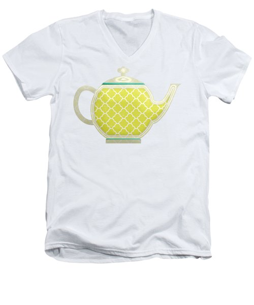 Teapot Garden Party 2 Men's V-Neck T-Shirt