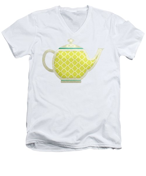 Teapot Garden Party 2 Men's V-Neck T-Shirt
