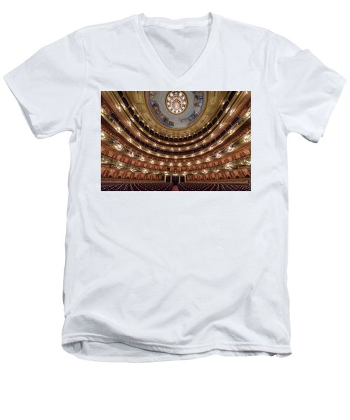 Teatro Colon Performers View Men's V-Neck T-Shirt