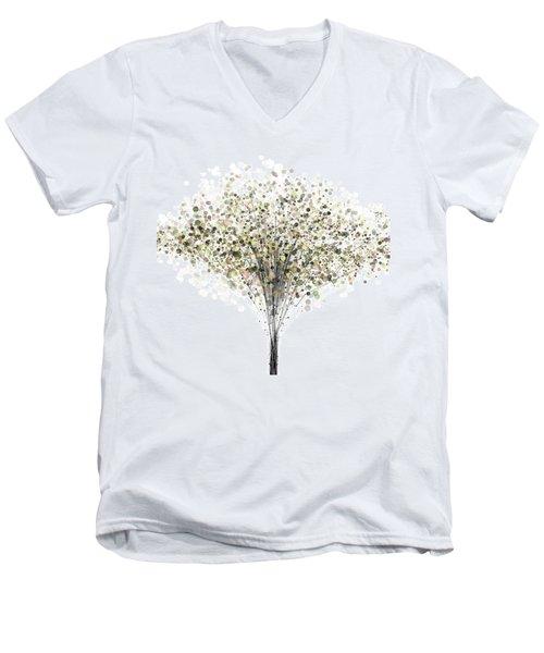 technology Abstract Men's V-Neck T-Shirt