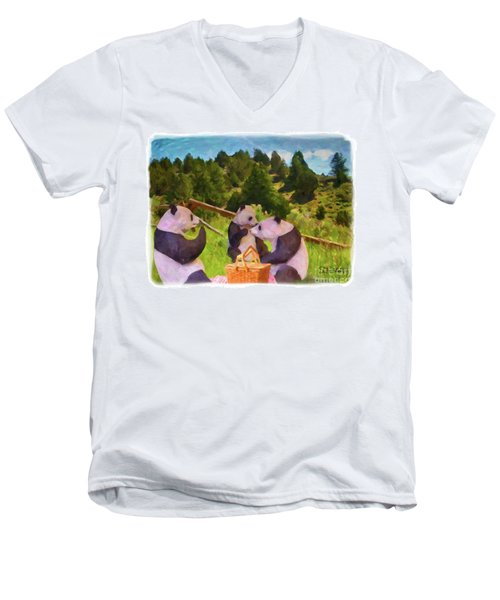 Teddy Bear Picnic Men's V-Neck T-Shirt