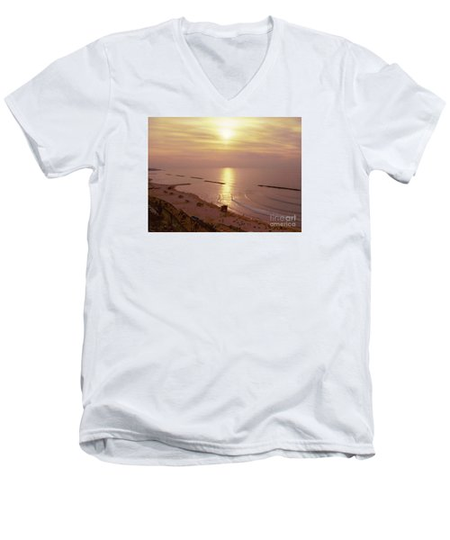 Tel Aviv Beach Morning Men's V-Neck T-Shirt