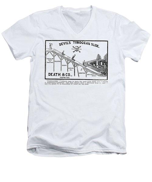 Temperance Movement 1887 Men's V-Neck T-Shirt