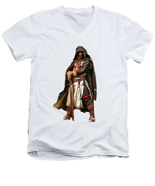 Templar Medieval Warrior Men's V-Neck T-Shirt