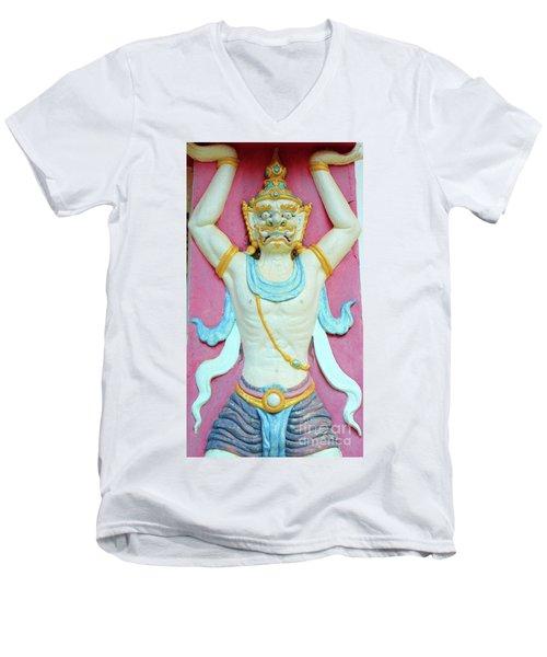 Temple Art In Thailand Men's V-Neck T-Shirt