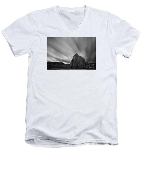 Temple Of The Sun Men's V-Neck T-Shirt by Keith Kapple