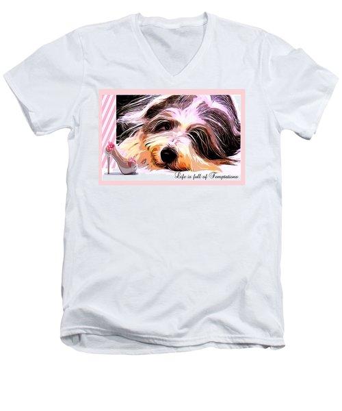 Temptation Men's V-Neck T-Shirt