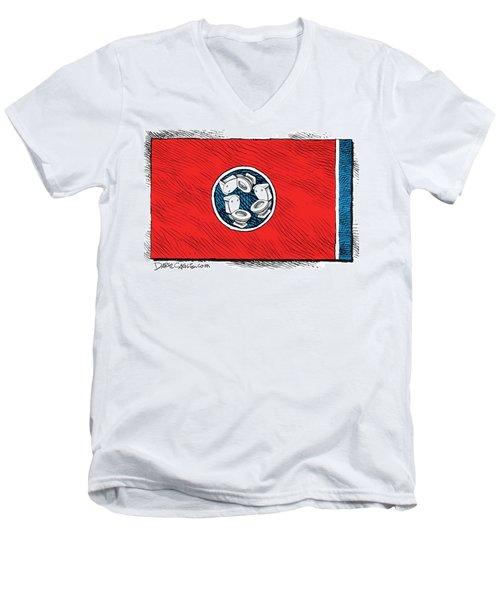 Tennessee Bathroom Flag Men's V-Neck T-Shirt