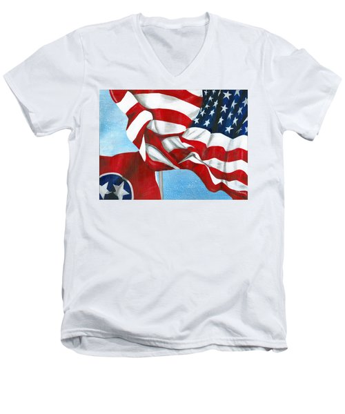 Tennessee Heroes Men's V-Neck T-Shirt