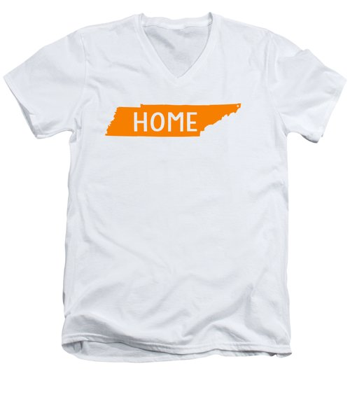 Tennessee Home Orange Men's V-Neck T-Shirt by Heather Applegate