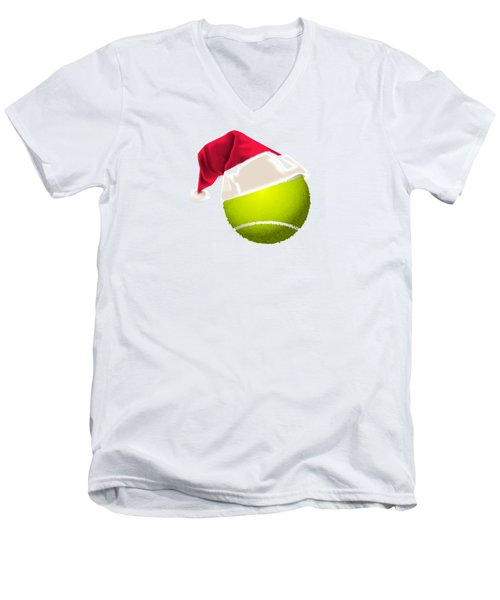 Tennis Christmas Gifts Men's V-Neck T-Shirt by MGdezigns