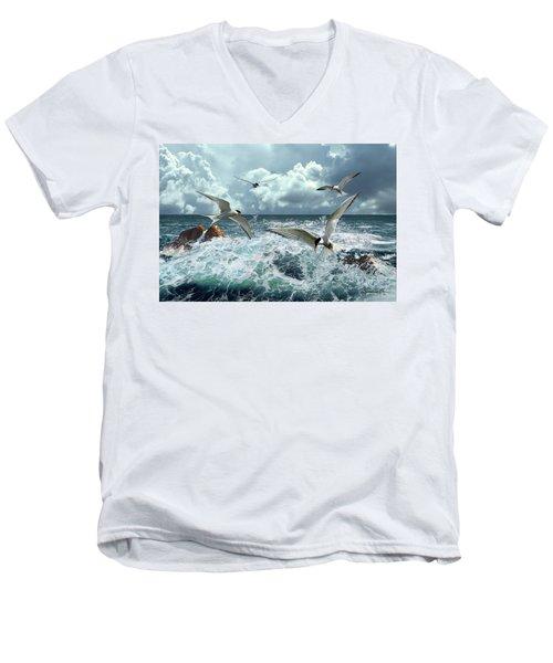 Terns In The Surf Men's V-Neck T-Shirt