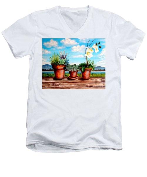 Terra Cotta Blues Men's V-Neck T-Shirt