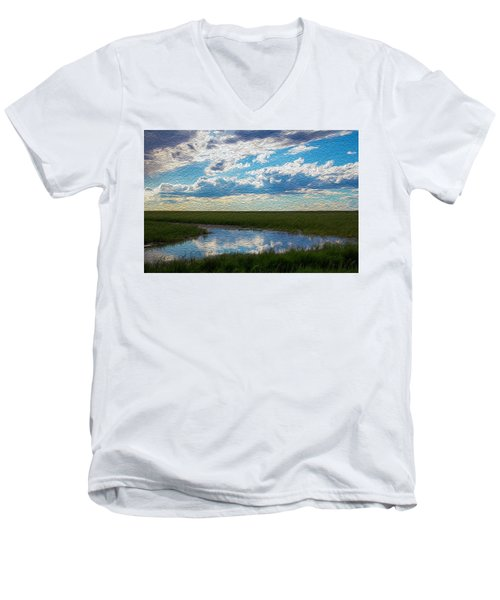 Terrace Pond Men's V-Neck T-Shirt