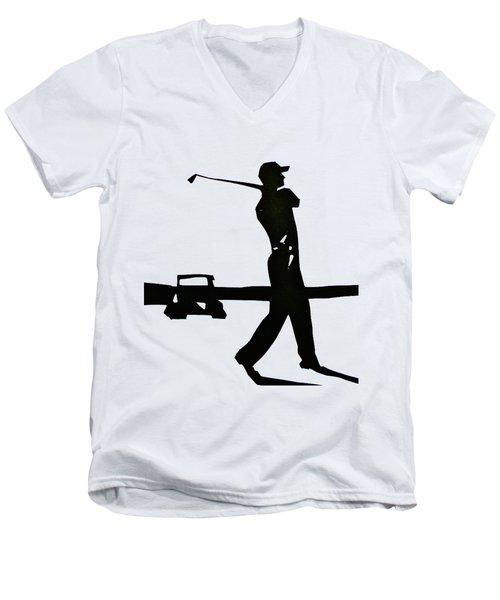 Test Men's V-Neck T-Shirt by Anna Ruzsan