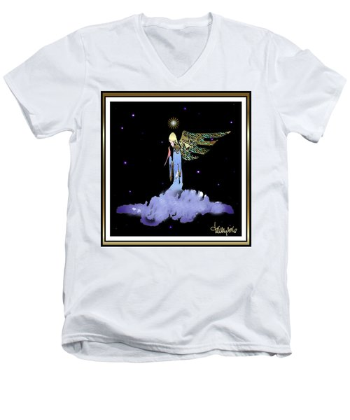 Heavenly Visit Men's V-Neck T-Shirt
