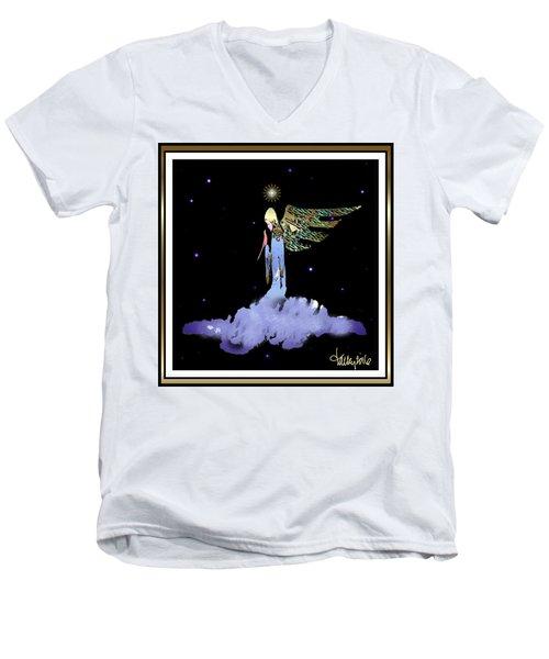 Heavenly Visit Men's V-Neck T-Shirt