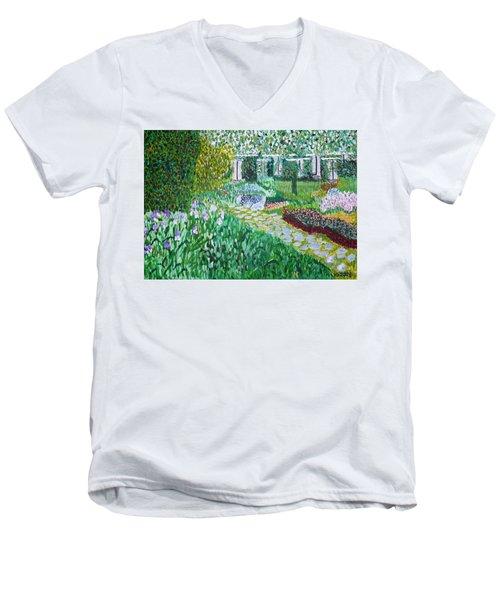 Tete D'or Park Lyon France Men's V-Neck T-Shirt by Valerie Ornstein