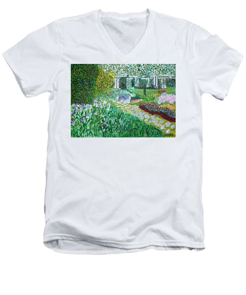 Tete D'or Park Lyon France Men's V-Neck T-Shirt
