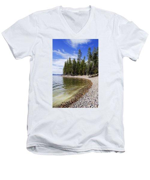 Teton Shore Men's V-Neck T-Shirt by Chad Dutson