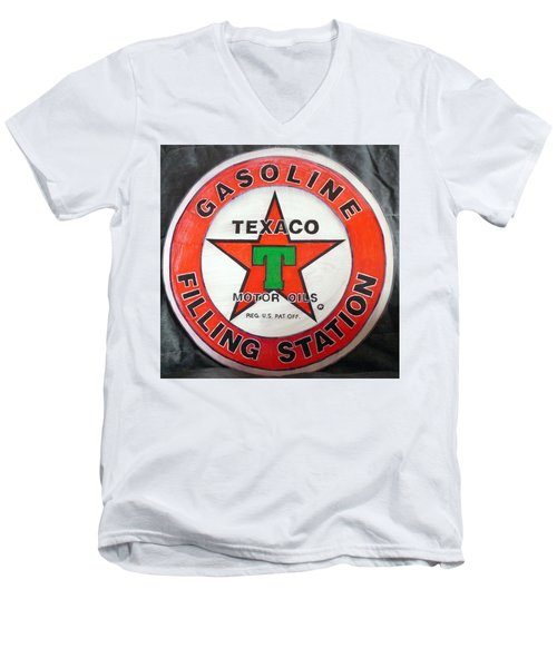 Texaco Sign Men's V-Neck T-Shirt