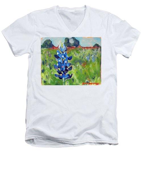 Texas Blue Bonnet Men's V-Neck T-Shirt
