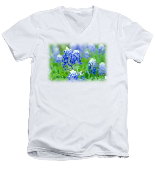 Texas Bluebonnet T-shirt Men's V-Neck T-Shirt