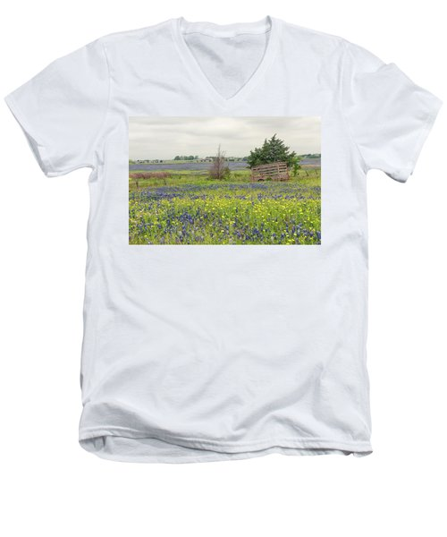 Texas Bluebonnets 3 Men's V-Neck T-Shirt