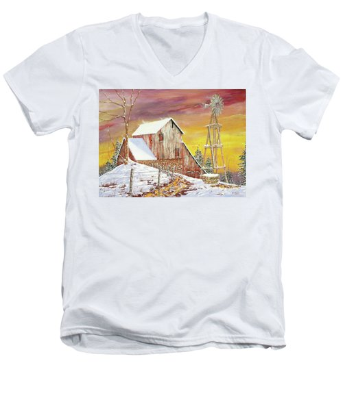 Texas Coldfront Men's V-Neck T-Shirt