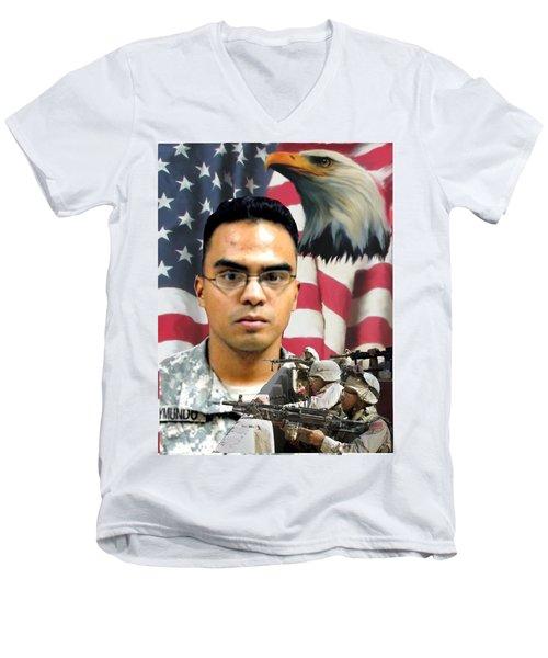 Texas Fallen Men's V-Neck T-Shirt by Ken Pridgeon
