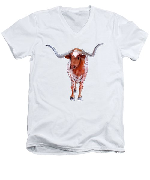 Texas Longhorn Branded  Men's V-Neck T-Shirt