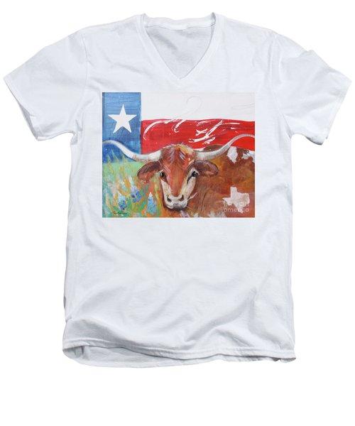 Texas Longhorn Men's V-Neck T-Shirt