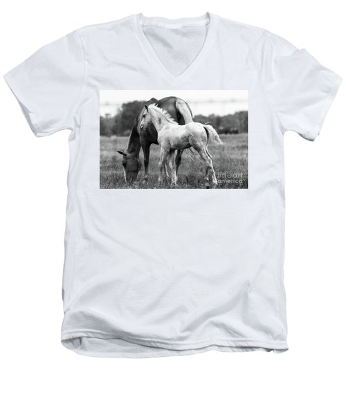Men's V-Neck T-Shirt featuring the photograph Texas Ranch  by Vincent Bonafede