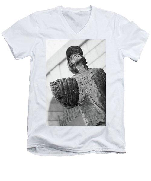 Texas Rangers Little Boy Statue Men's V-Neck T-Shirt