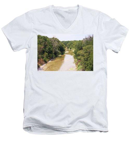 Texas River Men's V-Neck T-Shirt