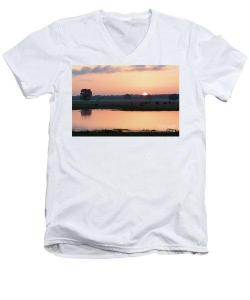 Texas Sunrise Men's V-Neck T-Shirt